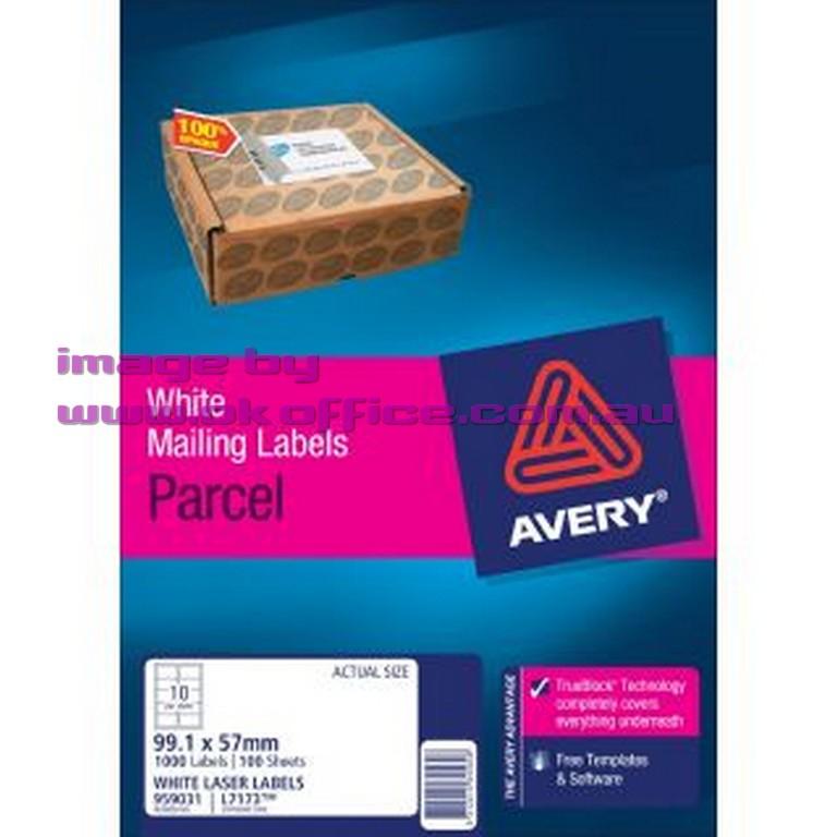 Ok office school bulk stationery supplies sydney brisbane melbourne 10356114 991x57mm white l7173 laser labels 10 per sheet l7173 white avery 959031 box 100 saigontimesfo