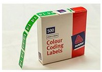 Labels Side tab colour coding labels - Year 14 Avery 43264 - roll 500 $29.99