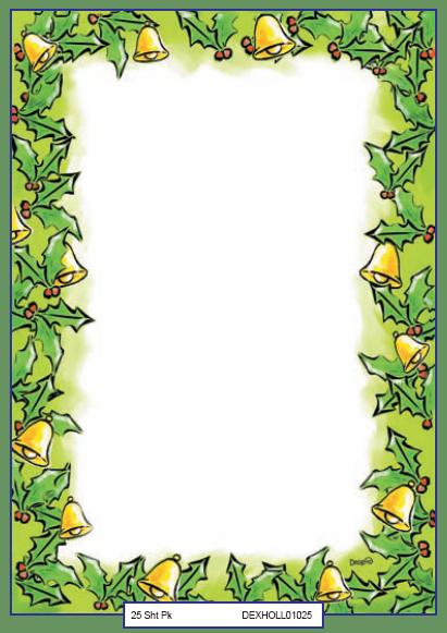 xmas paper designa a4 holly border pack 25 more info