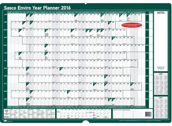 2014 Year Planner Printable Year planner 2015 a2 recycled