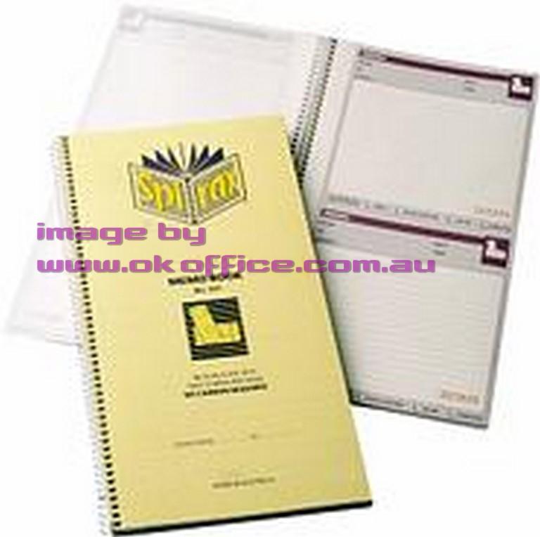 Memo book Spirax 551 carbonless 55228 - pack 10 $49.94