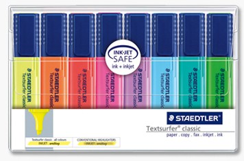 Highlighter Staedtler Topstar 364 assorted 364WP8 - wallet 8 was $12.43 now $11.33